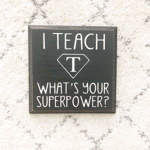 Other - HOME // Teacher Plaque